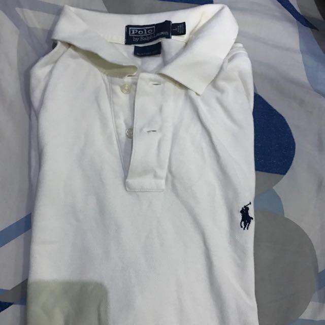 Ralph Lauren Polo Shirt White Small Pony