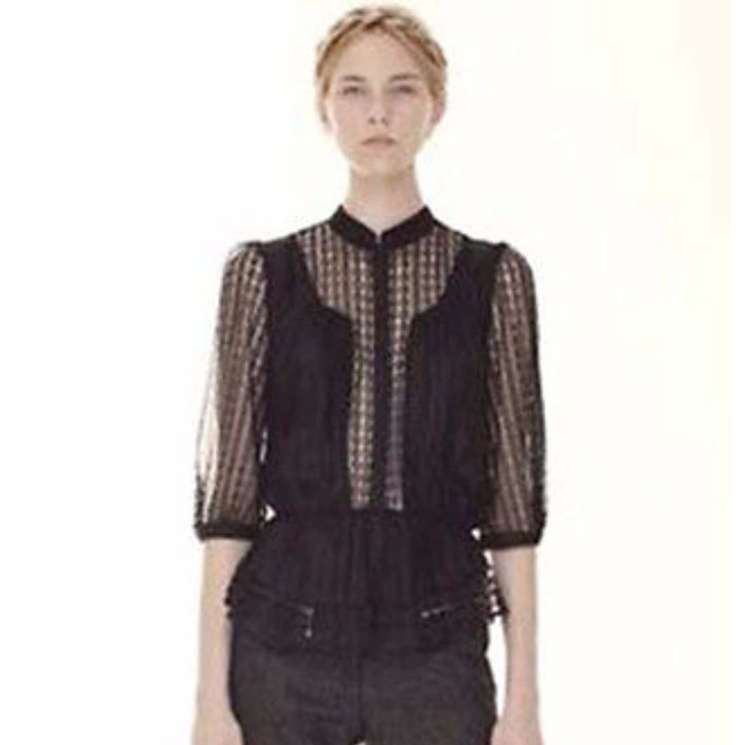 RARE! Lover the Label by Susien Chong Tennessee Black Lace Bodice Top $99