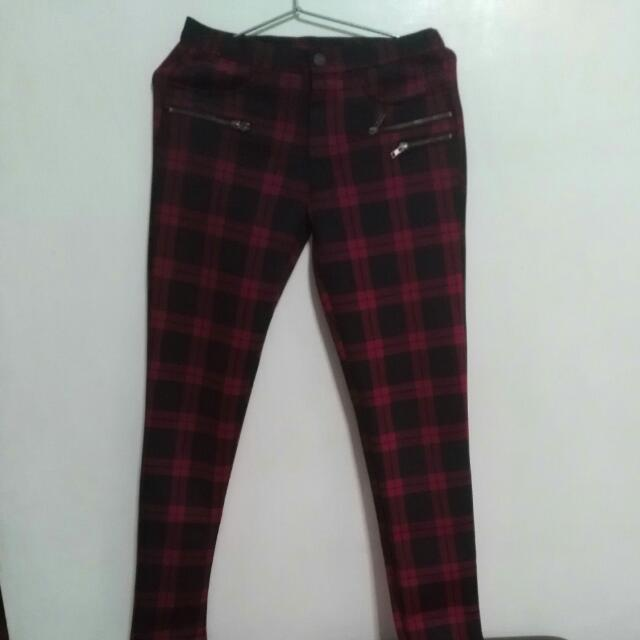 Red Checkered Pants