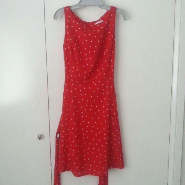 Red Polka Dot Retro Dress Size 6-10