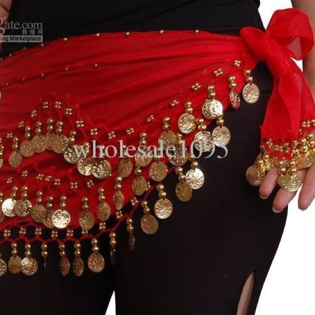 Red/gold Coin Belt