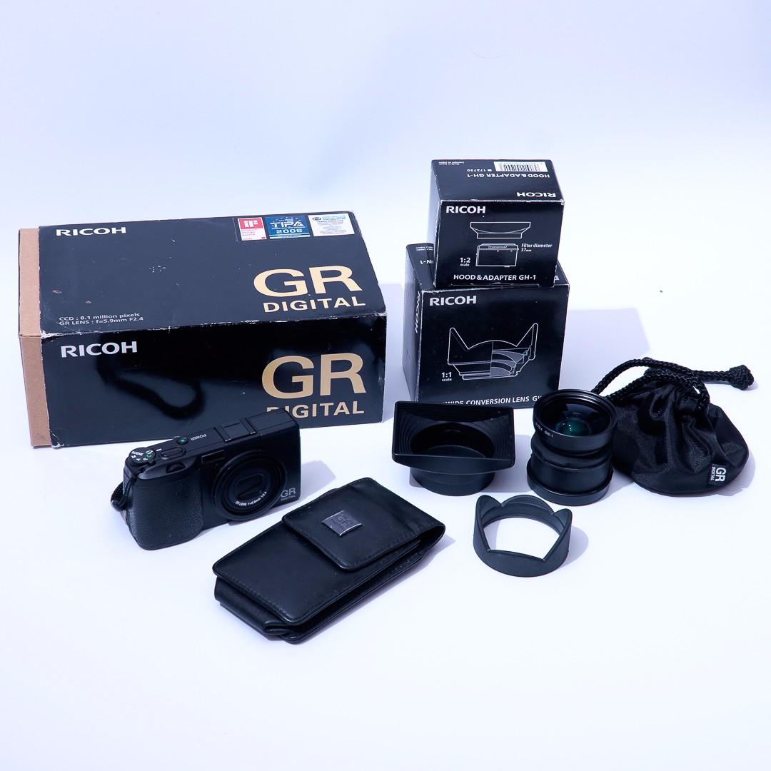 Ricoh GR Digital + GH-1 + GW-1