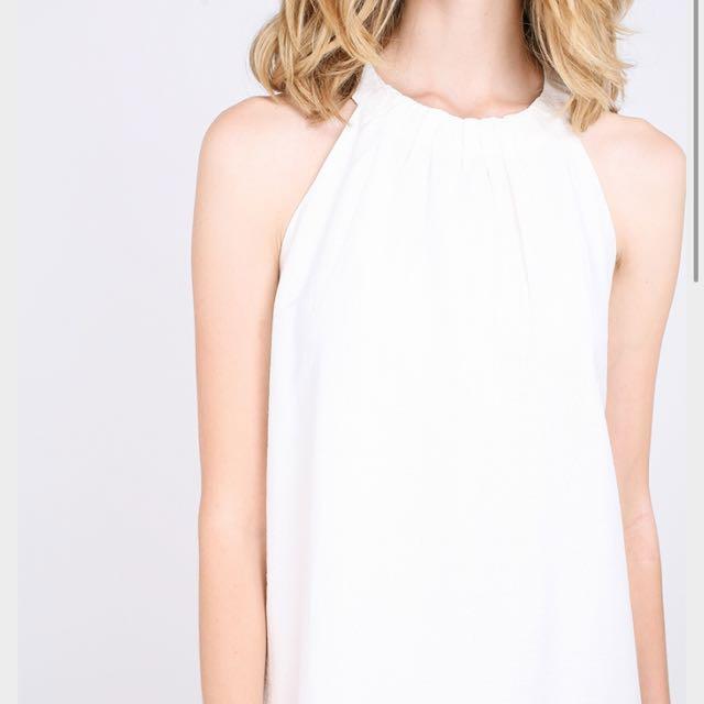 rwb fyemant dress (white) / maxi dress