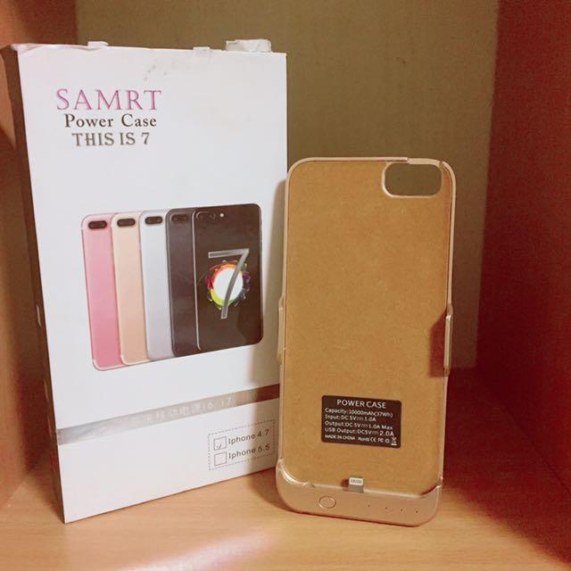 SAMRT背夾式行動電源i6/i7 4.7都適用