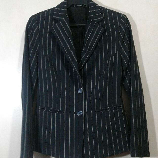 Stripe Black Blazer