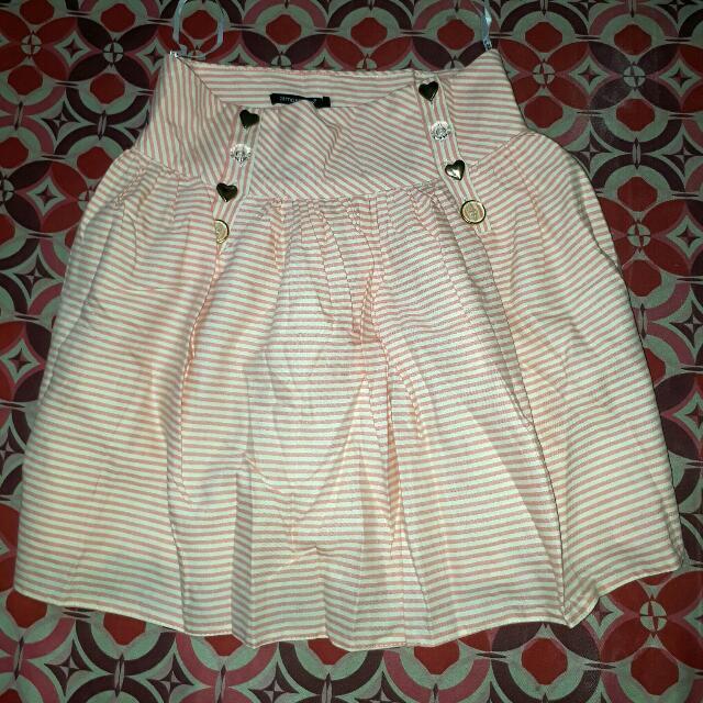 Stripe Circle Bubble Skirt