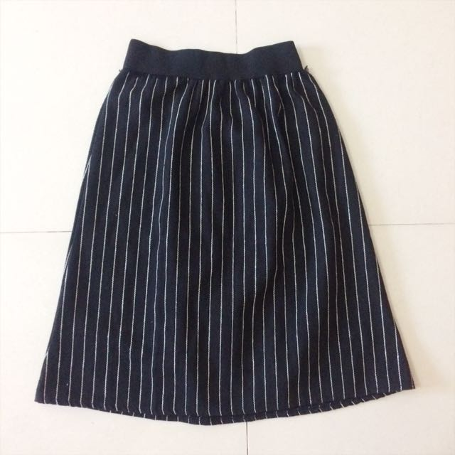 Stripe Flare Skirt