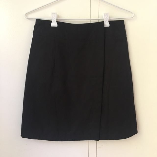 Suede Wrap Skirt Size 8