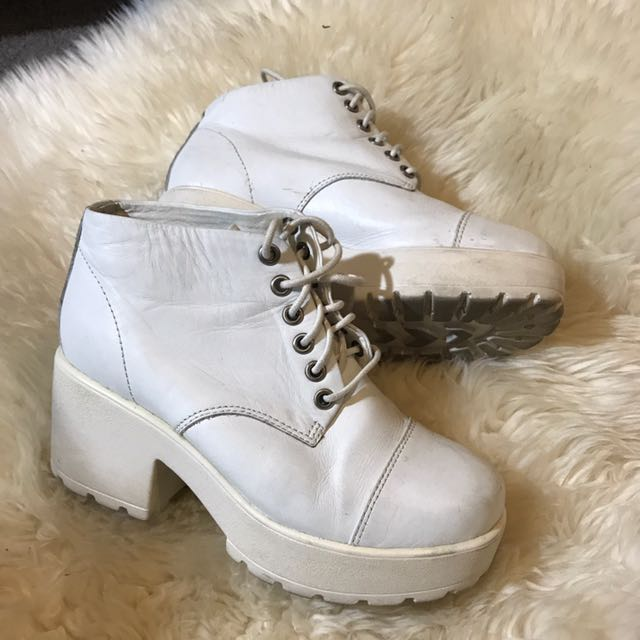 Tony Bianco White Lace Up Boot