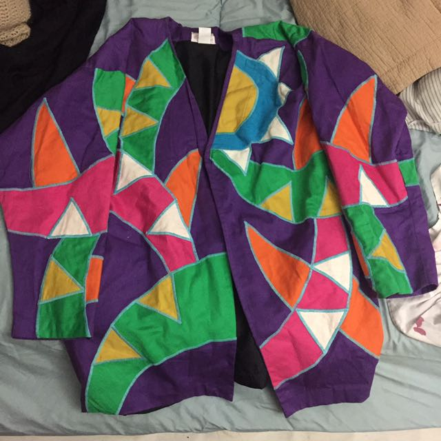 Vintage Colourful Pattern Jacket