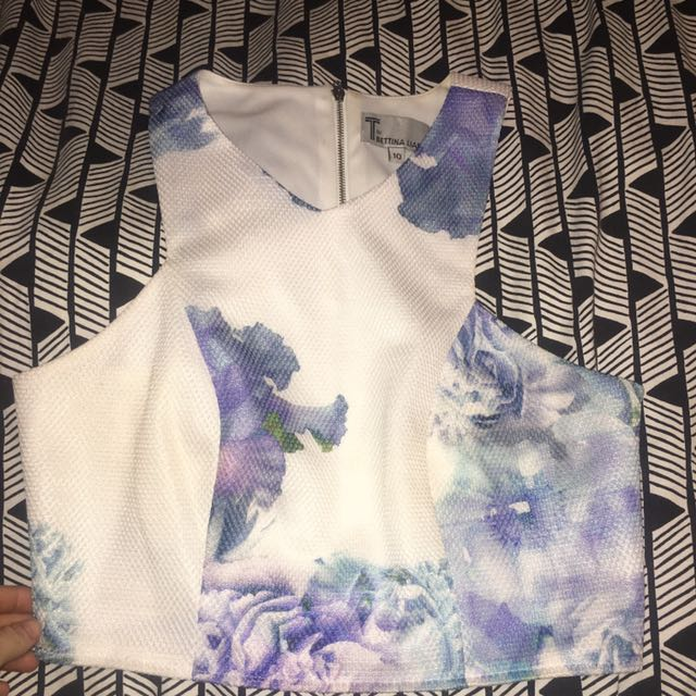 White And Floral Two Piece Set