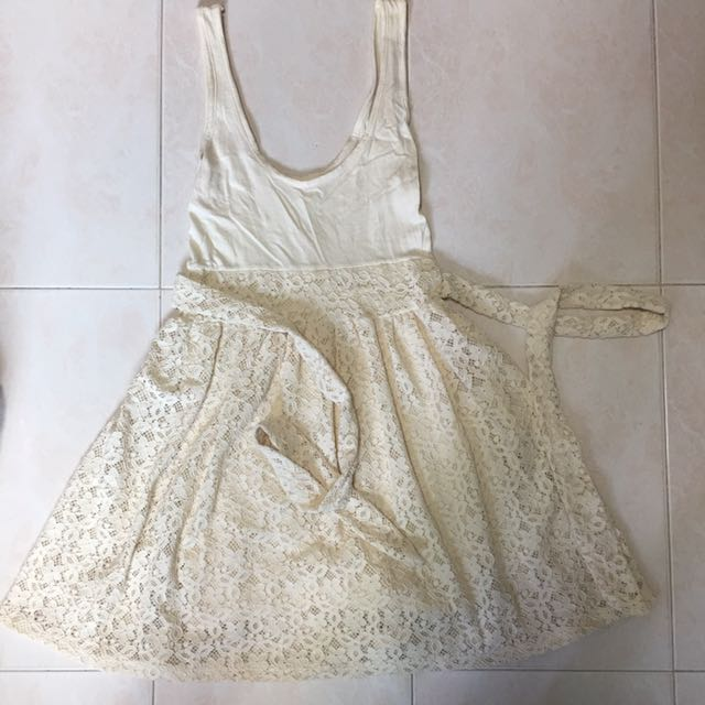 Girls' Clothing (2-16 Years) Green Floral Dress With White Ribbon Kids' Clothes, Shoes & Accs.