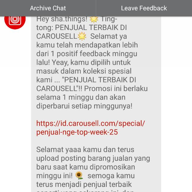 Yuhuuu.. Thanks Carousell