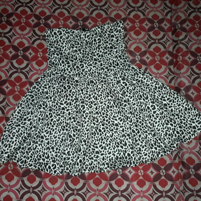 Zebra-Print Party Dress