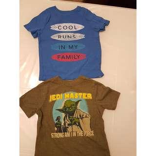 Boys t- shirts.