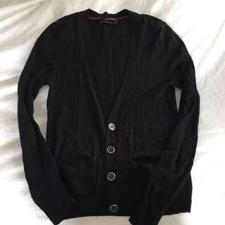 Club Monaco Wool And Cashmere Black Cardigan