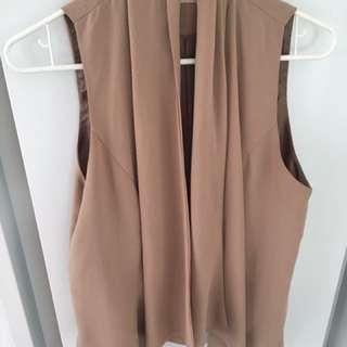 Beautiful Blush Draped Vest Size s/m