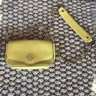 Tory Burch Yellow Cross Body
