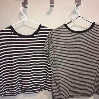 2 Striped H&M Tees
