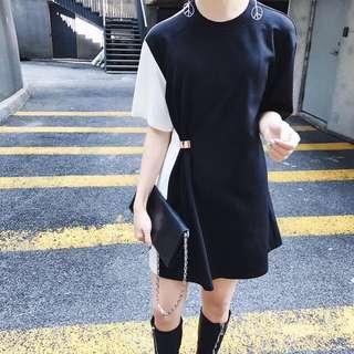 全新轉賣!超顯氣質,黑白拼接連身裙