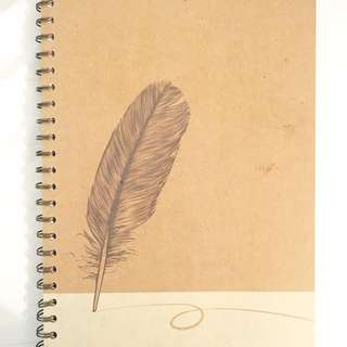 Brand New Feather Notebook