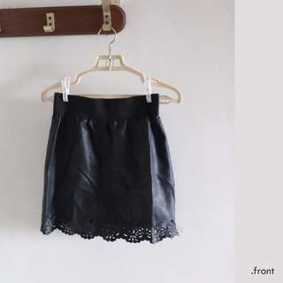 Leather & Lace UNIQLO Skirt