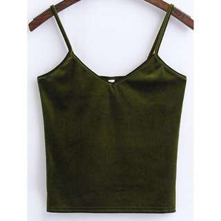Army Green Cami Top