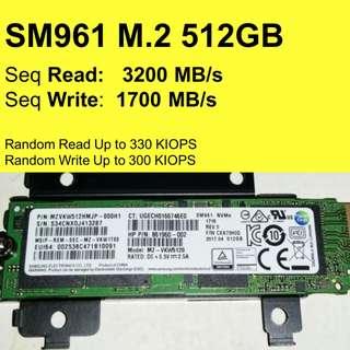 Samsung SM961 Pro 512GB M.2 NGFF SSD PCIe 3.0 NVMe