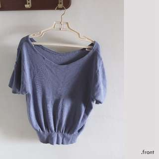 Muted Blue Knit top