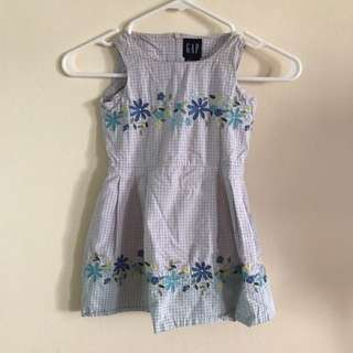 Gap Light Blue Flower Dress 👗