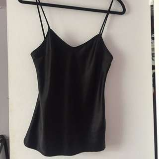Guess By Marciano - Black Silk Tank Top
