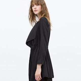 Zara Black Flowy Jacket
