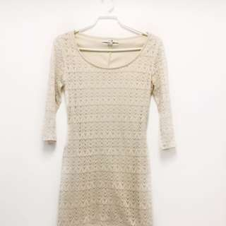 Forever 21 Lace Dress Off White (medium)