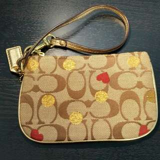 COACH Wristlet - Hearts and Dots
