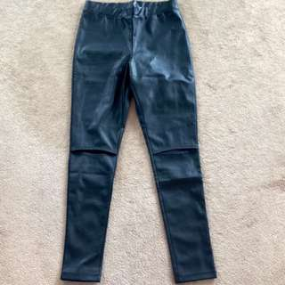 New Black Faux Leather Leggings