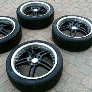 IKON 17inch Rims 4 Bolt With NS-1 Sports Tires
