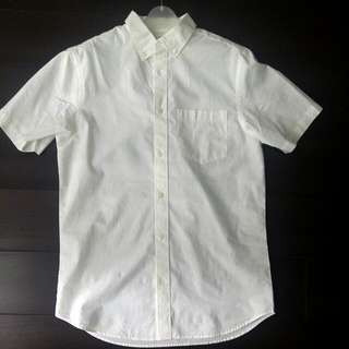 White Short Sleeve Button Down (Size S)