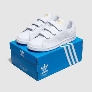 AUTHENTIC ADIDAS STAN SMITH CF White & Gold Metallic (EUR 38)