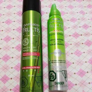 Garnier Hair Spray And Mousse