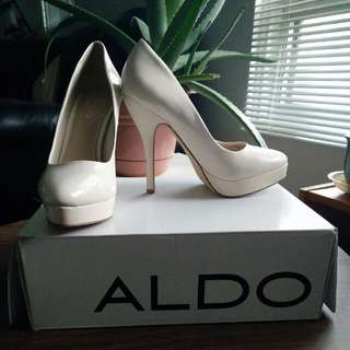 Nude-Beige High Heels by Aldo