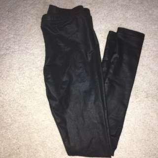 American Apparel Black Metallic Leggings