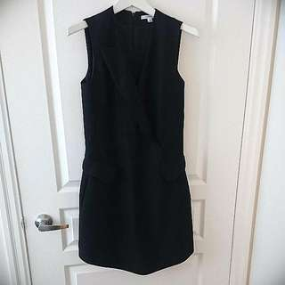 Black CARVEN Wool Dress LBD