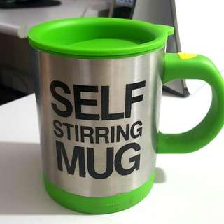 Self-Stirring Mug with Free Batteries