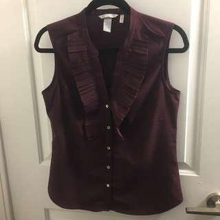 Purple Sleeveless Blouse For Work