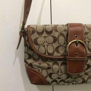Coach Small Satchel Bag - Genuine Leather