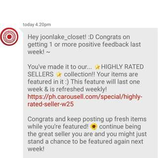 HIGHLY-RATED SELLER again