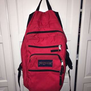 RED JANSPORT BACKPACK