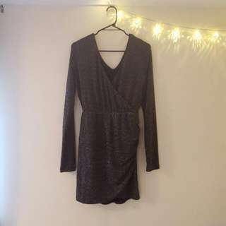Black Dress With Silver Sparkles
