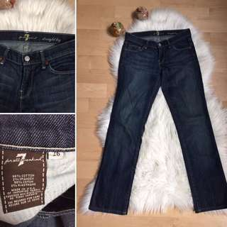 7 For All Mankind Straight Jeans Sz 26