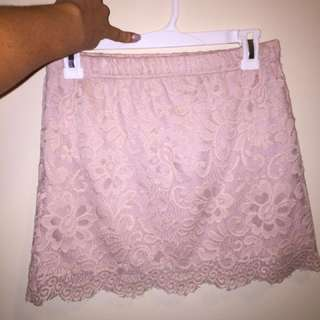 Pink Lace Skirt Size M
